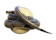 питон шарика перевода 3D на белизне Стоковые Фото