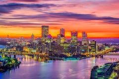 Питтсбург, Пенсильвания, горизонт США Стоковые Изображения RF