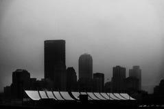 Питтсбург, Пенсильвания в тумане Стоковые Изображения RF