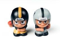 Питтсбург Steelers и ` l товарищ по команде Li рейдовиков Окленд забавляются стоковая фотография rf