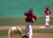 питчер бейсбола Стоковое Изображение RF