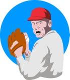 питчер бейсбола иллюстрация вектора