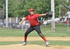 питчер лиги бейсбола маленький Стоковое фото RF
