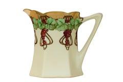 питчер сока античной виноградины handpainted изолированный Стоковая Фотография