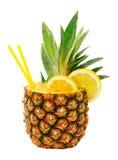 Питье ананаса Стоковая Фотография