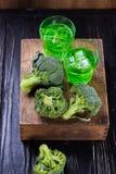 Питье брокколи с льдом Стоковое фото RF