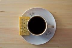 Питье еды и кофе Стоковое Фото