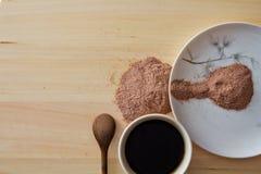 Питье еды и кофе Стоковая Фотография RF
