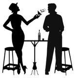Питье женщины бросая Стоковая Фотография