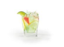Питье лимона известки Стоковая Фотография