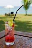 питье коктеила пляжа Стоковое Изображение