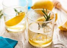 Питье коктеиля лета лимонада Розмари Стоковые Изображения RF