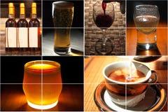 питье коллажа Стоковое Изображение RF