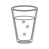 Питье кофеина кофе чашки стеклянное утончает линию Стоковое Изображение