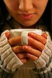 питье кофе Стоковое Фото