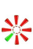 Питье красного цвета и зеленого цвета Стоковая Фотография RF