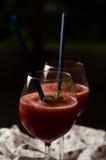 Питье красной дыни слякотное стоковые фотографии rf