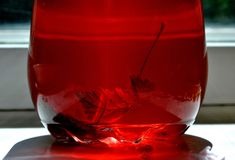Питье клубники окном Стоковое Изображение RF