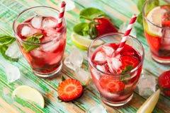Питье клубники Стоковое Фото