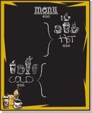 Питье меню Стоковое Изображение