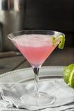 Питье домодельной розовой водочки космополитическое Стоковые Фото