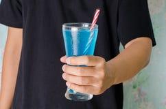 Питье сини льда Стоковое фото RF