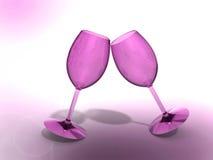 Питье шампанского чашки Стоковое Изображение