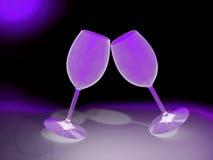 Питье шампанского чашки Стоковое Изображение RF