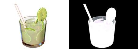 питье caipirinha иллюстрации 3d Иллюстрация вектора