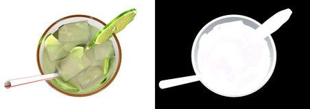 питье caipirinha иллюстрации 3d Иллюстрация штока