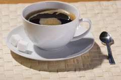 питье coffe Стоковая Фотография