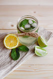 Питье Mojito с мятой и цитрусом Стоковые Изображения RF