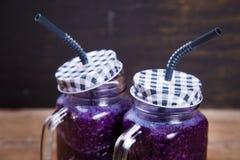 Питье Smoothie от капусты Стоковые Фото