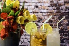 2 питья лета Стоковая Фотография RF
