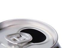 пить алюминиевой чонсервной банкы раскрыли мягко стоковое изображение