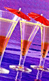 Пить коктеиля Стоковые Изображения RF
