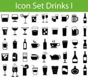 Пить комплекта значка i иллюстрация штока