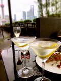 Пить на террасе Стоковое Фото