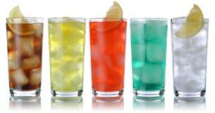 Пить соды с колой и лимонадом Стоковые Изображения RF