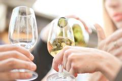 Пить с стеклами вина Стоковые Фотографии RF