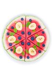 Пицца арбуза на белизне Стоковые Фото