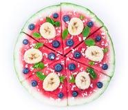 Пицца арбуза на белизне Стоковое Изображение