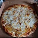 Пицца влюбленность Стоковое Изображение