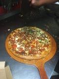 Пицца готовая для того чтобы пойти Стоковые Изображения RF