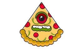 Пицца 16061996 изверга характеров дизайна Стоковое фото RF