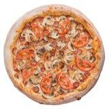 Пицца, изображение совершенна для вас для того чтобы конструировать ваши меню ресторана Посетите мою страницу Вы будете найти изо Стоковое Изображение RF