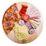 пицца ингридиента Стоковое Изображение RF