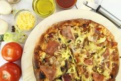 пицца ингридиентов Стоковое Фото