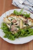 Пицца коркы цветной капусты Стоковая Фотография RF