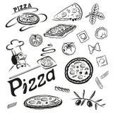 Пицца, макаронные изделия Стоковые Фото